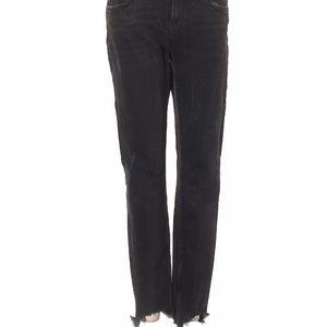 Zara Frayed Black Jeans